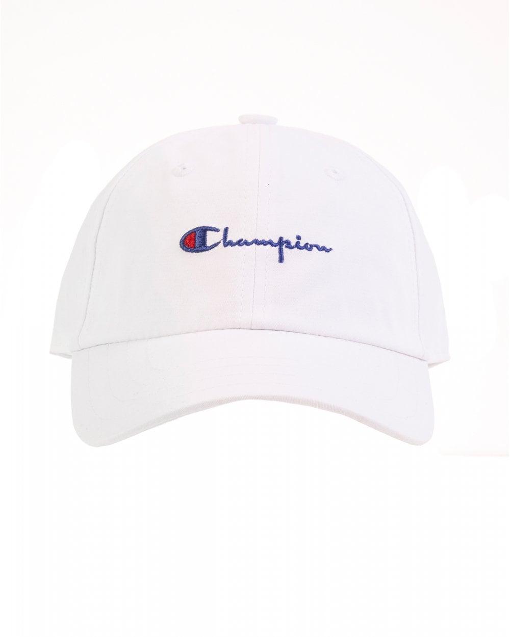 bde77f375ef Champion Mens White Script Hat