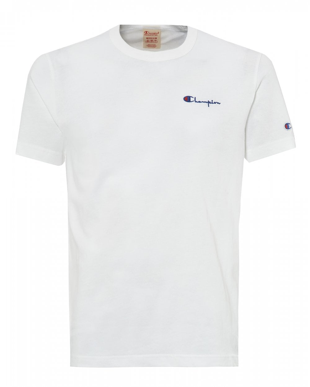 d18bba7d8419 Champion Mens White Small Script T-Shirt, Logo Tee