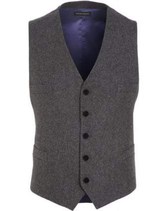 Charcoal Grey Fine Donegal Waistcoat