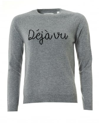 Womens De Javu Jumper, Cashmere Grey Sweater