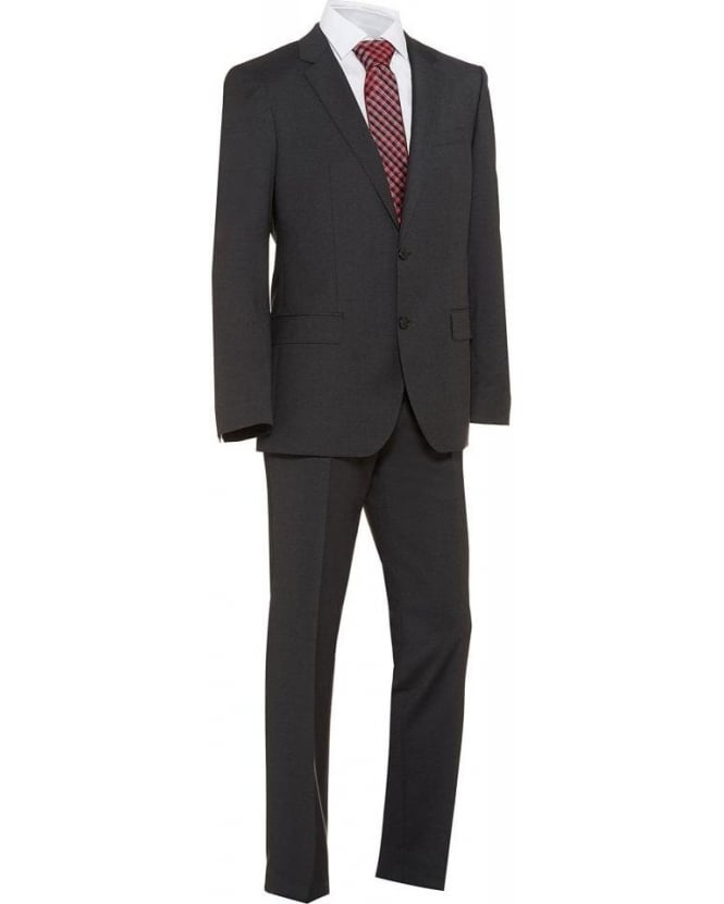 Hugo Boss Black Classic Charcoal Huge4 Genius3 Slim Fit New Wool Suit