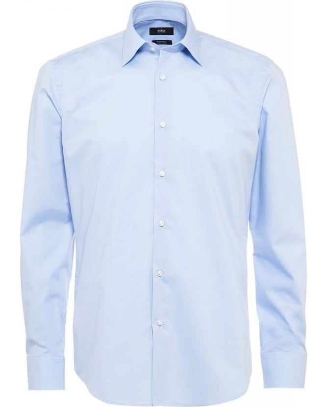 Hugo Boss Black Classic, 'Enzo' Sky Blue Regular Fit Shirt