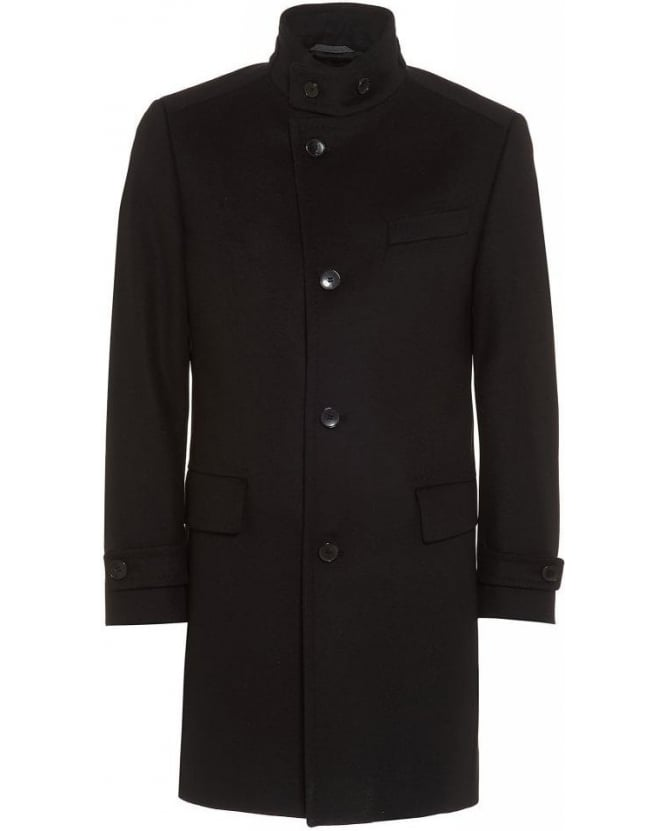 Hugo Boss Black Classic Sintrax5 Black Plain Coat