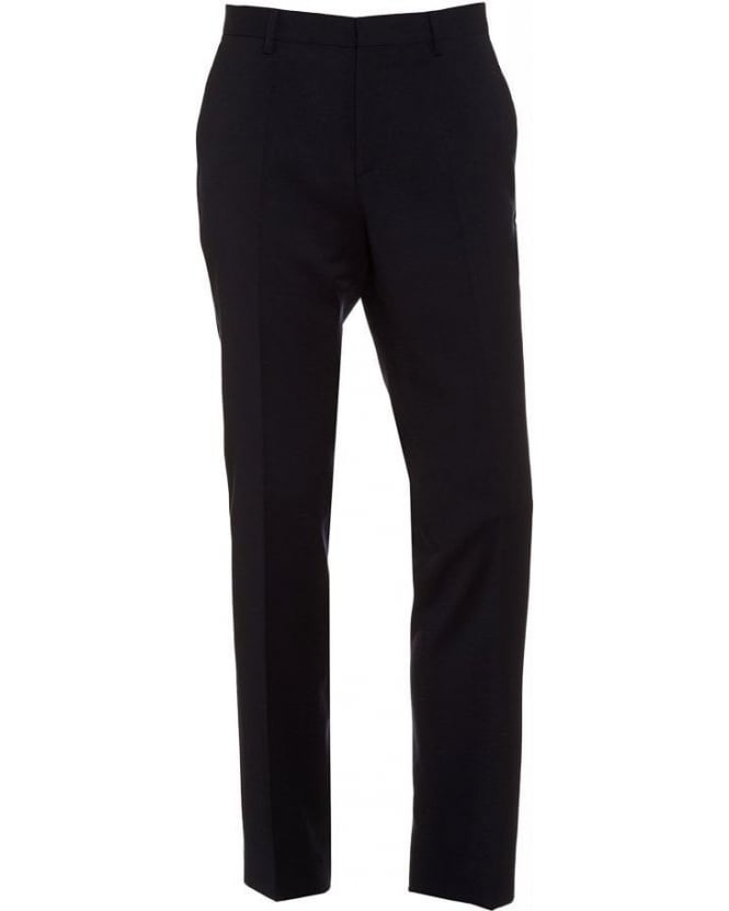 Hugo Boss Black Classic Trousers Genesis 2 Navy Wool Trouser