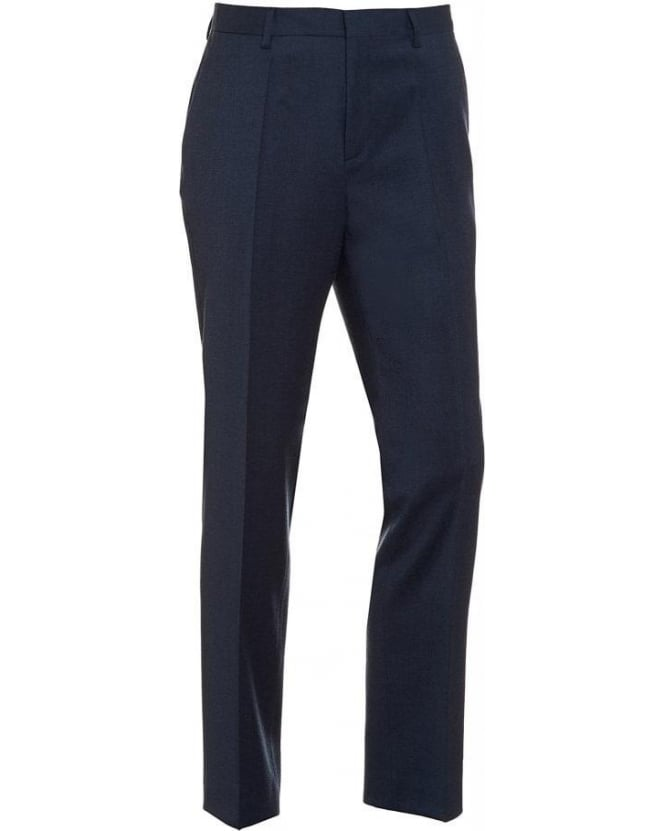 Hugo Boss Black Classic Trousers Genesis 2 Petrol Blue Wool Trouser
