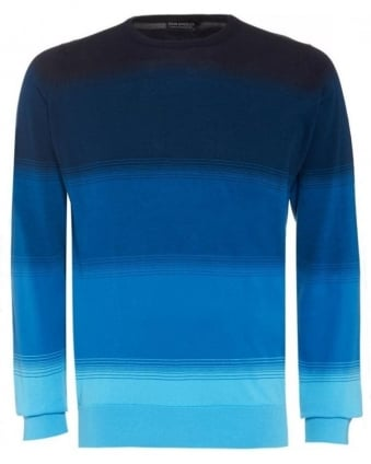 Cloudless Blue 'Corsten' Block Stripe Knit