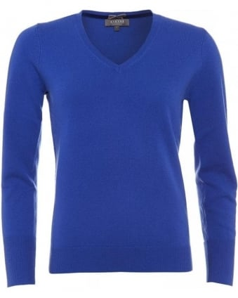 Cobalt Essential V Neck Jumper