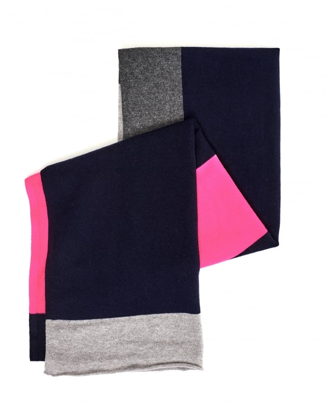 Cocoa Cashmere Womens Contrast Rectangle Colour Block Scarf