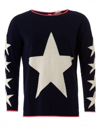 Womens Estella Jumper, Stars Navy Sweater