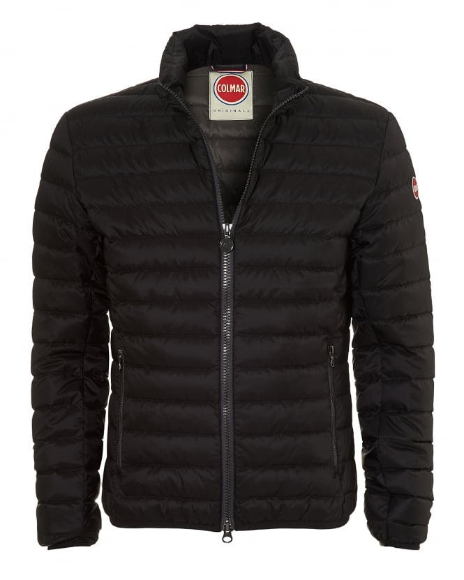 Colmar Mens Bomber Jacket, Down Filled Black Jacket