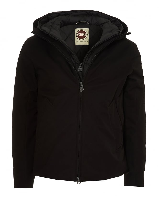 Colmar Mens Fixed Hood Technical Outer Black Jacket