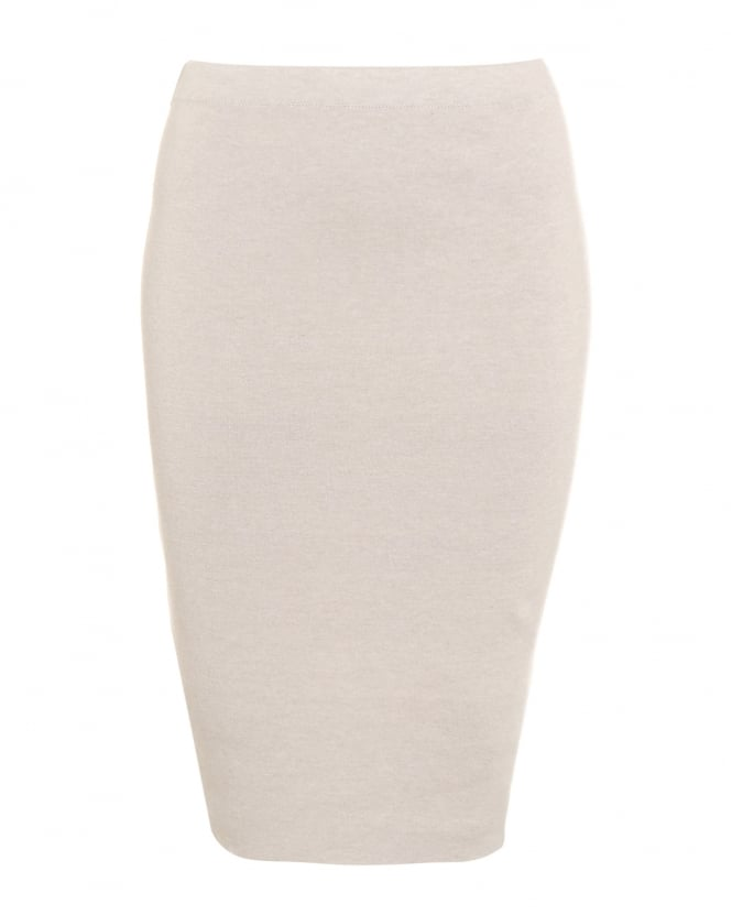 D. EXTERIOR Womens Knitted Reversible Latte Pencil Skirt
