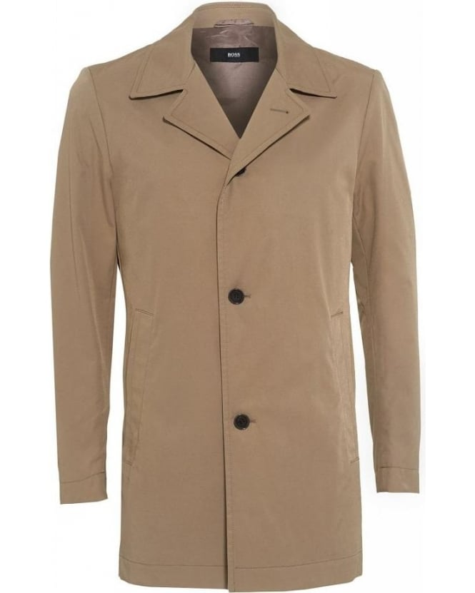 Hugo Boss Black 'Dais 5' Beige Slim Fit Rain Coat