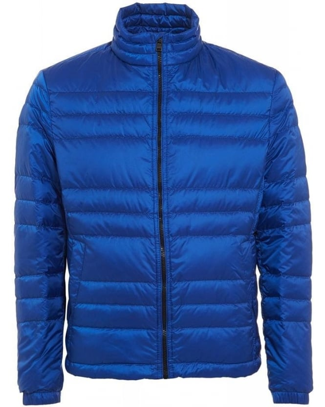 Hugo Boss Black Daniell 1 Jacket, Blue Quilted Puffa Coat
