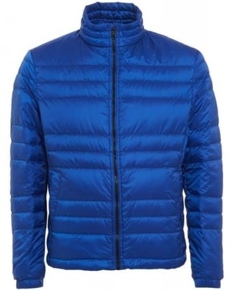 Daniell 1 Jacket, Blue Quilted Puffa Coat