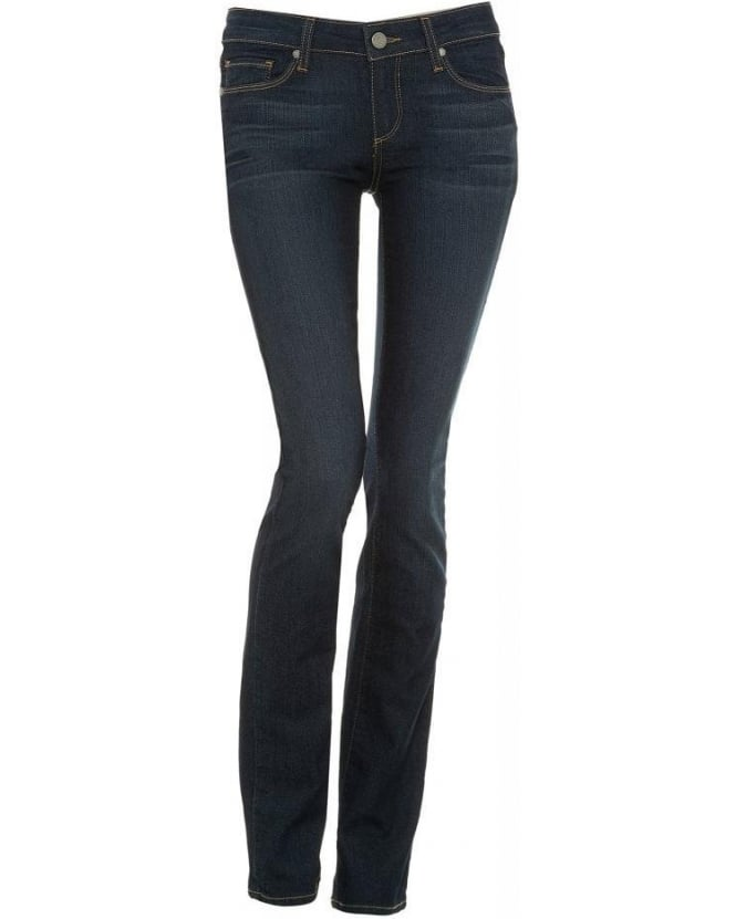 Paige Jeans Dark Clean Skyline Straight Mid Rise Jean