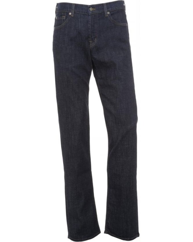 For All Mankind Dark Clean Standard Hollywood Stretch Rinse Jeans