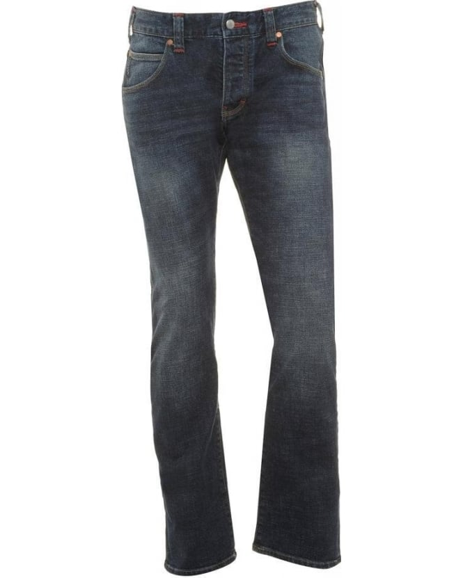 Armani Jeans Dark Cross Regular Fit Jeans