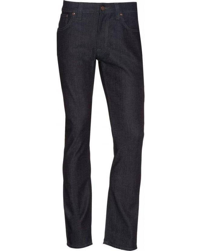 Nudie Jeans Dark Indigo Thin Finn Slim Fit Jeans