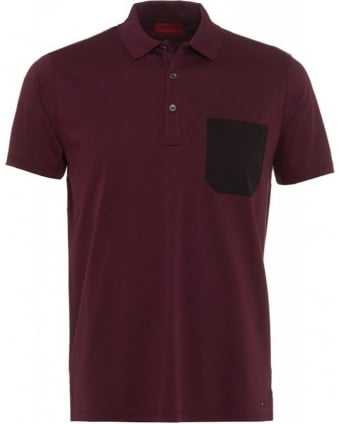 Dark Red Polo Shirt Dyron Polo