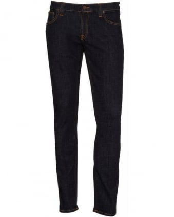 Dark Rinse Tight Long John Power Stretch Jeans