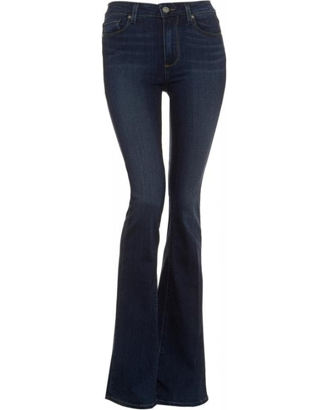 Paige Jeans Dark Wash High Rise Canyon Nottingham Flare Jeans