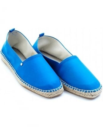 'David' Dive Blue Espadrille Shoes