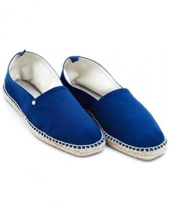 'David' Navy Blue Espadrille Shoes