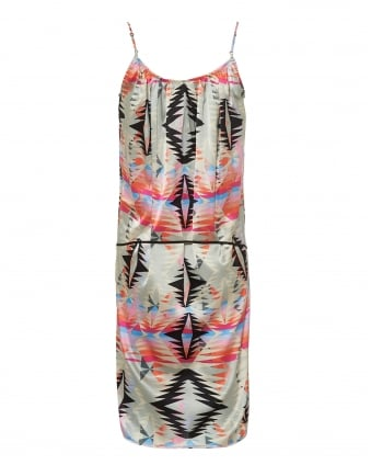 Womens Alexandra Dress, Caprice Geo Aztec Print Multi Coloured Dress