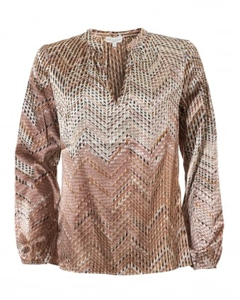 Womens Alona Blouse, Blaze Soft Silk Top