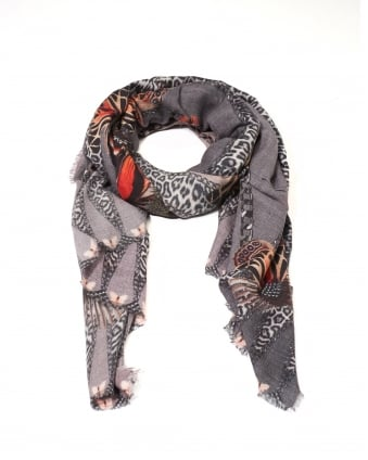 Womens Chloe Butterfly Print Cashmere Scarf