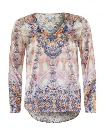 Womens Dolce Tunic, Sephora Butterfly & Floral Print Pink/Blue Top