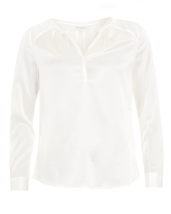 Dea Kudibal Womens Irene Shirt, Pleat Natural White Blouse