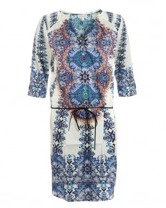 Womens Maya Cameron Blue Print Dress