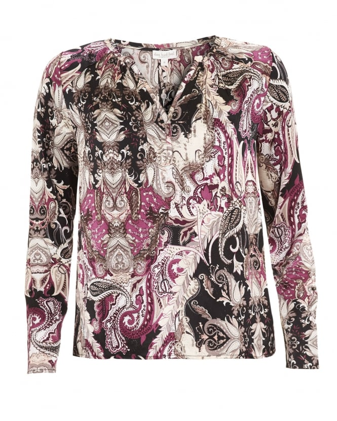 Dea Kudibal Womens Sandra Shirt, Paisley Print Black Blouse