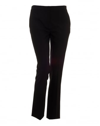 Womens Cigarette Pant, Cropped Black Trousers