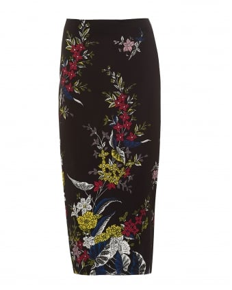 Womens Pencil Skirt, Tailored Black Multi Coloured Skirt