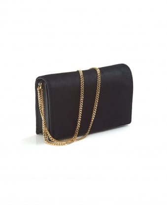 Womens Soiree Crossbody Velvet Black Bag