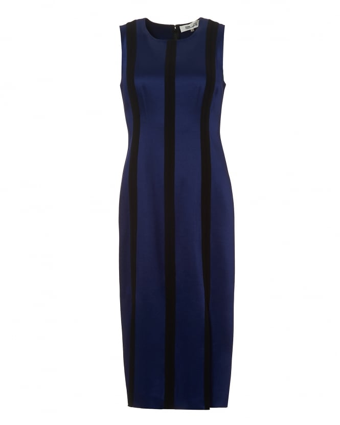 Diane von Furstenberg Womens Tailored Panelled Dress, Deep Violet Black Dress