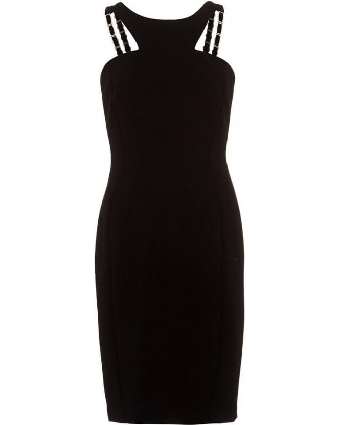 Versace Collection Dress Black Chain Strap Dress
