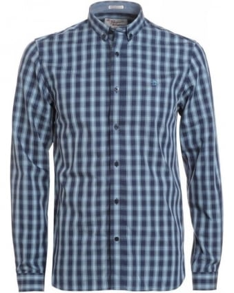 Dress Blue Check Heritage Slim Fit 'Watson' Shirt