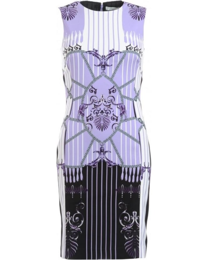 Versace Collection Dress, Lilac Shift Dress in Stretch Jersey
