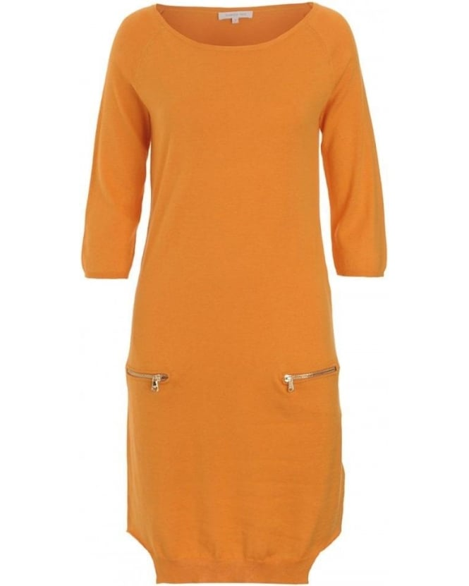Patrizia Pepe Dress, Orange Knit Jersey Dress