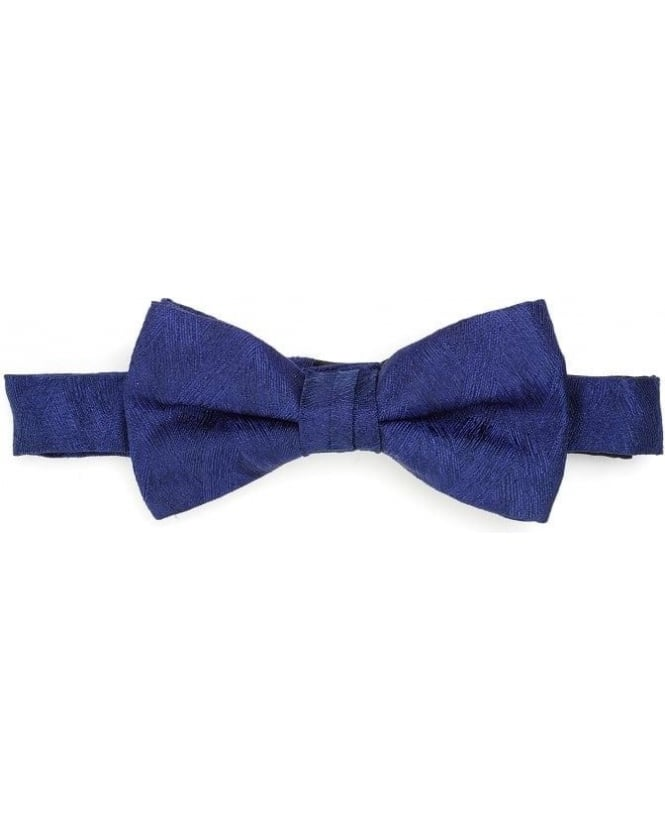 Duchamp Mens Bow Tie Blue Sketch Honeycomb Clip Tie