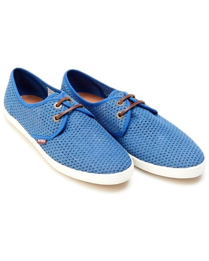 Veras Shoes Electric Blue 'Bilbao Mesh' Lace Up Shoes