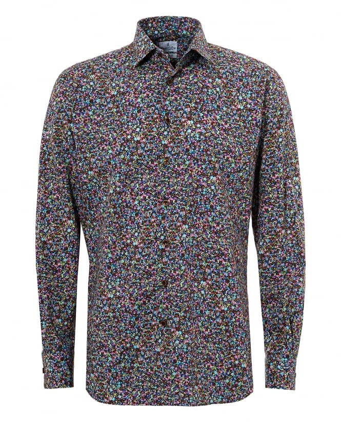 Emanuel Berg Mens Mr Crown Micro Multi Floral Shirt
