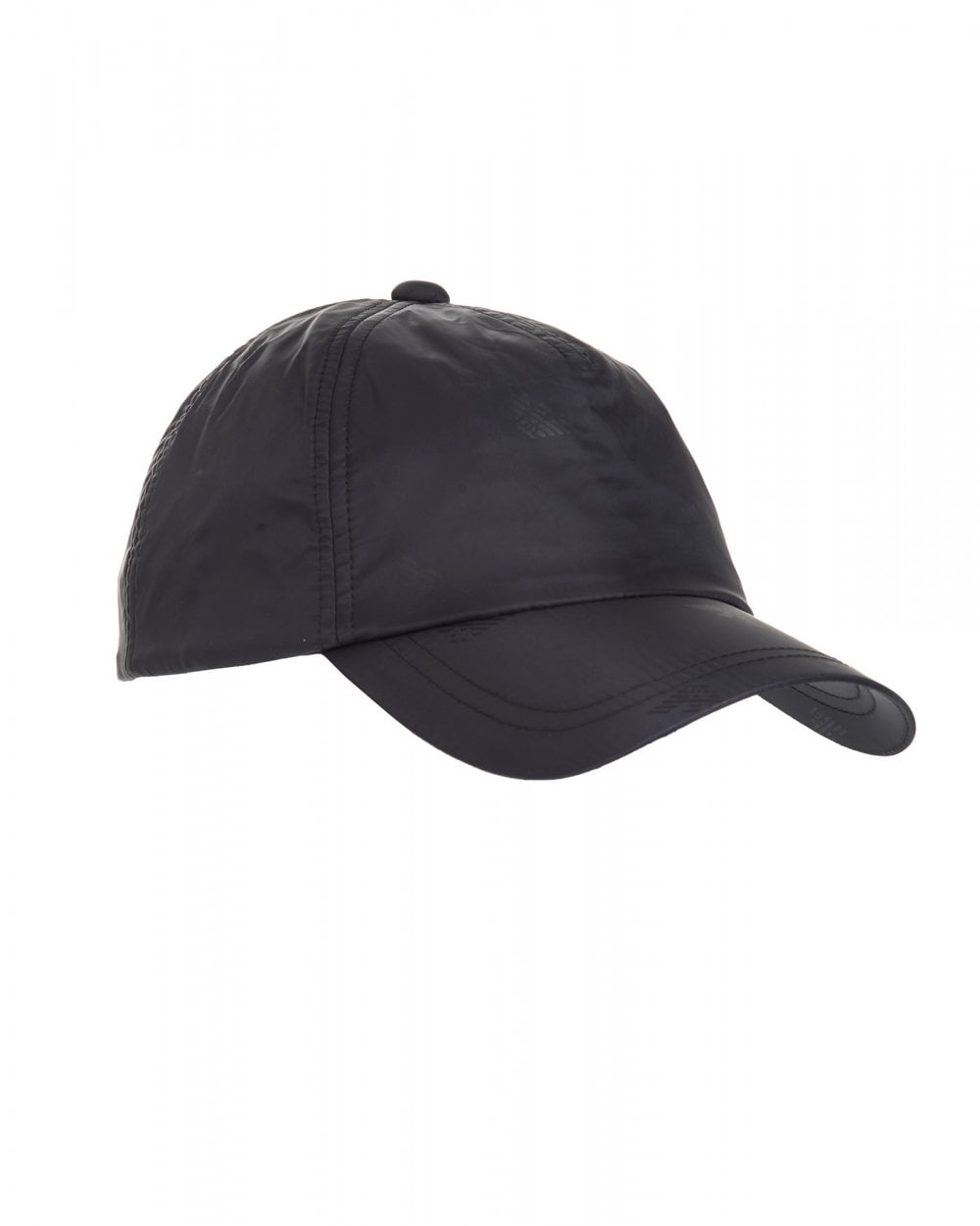Emporio Armani Mens All Over Logo Baseball Cap, Black Hat 09309c29bd4