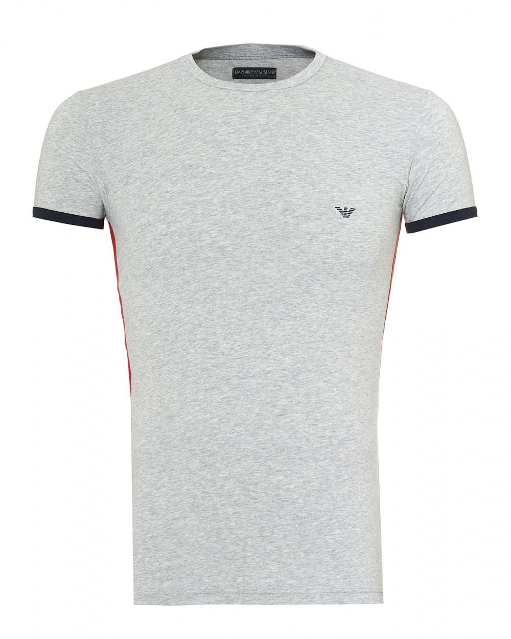 019ced70 Emporio Armani Mens Back Logo T-Shirt, Slim Fit Grey Tee