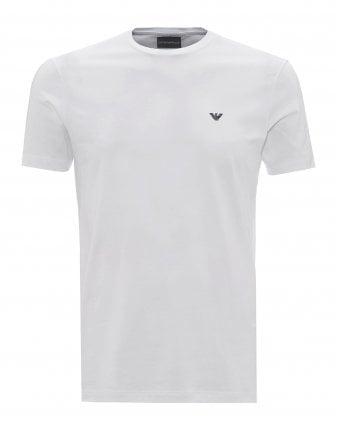 66b99e6e Mens Basic Eagle Logo T-Shirt, Regular Fit White Tee SALE · Emporio Armani  ...