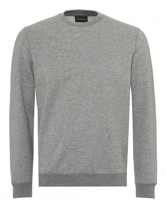 Mens Basic Sweatshirt, Regular Fit Grey Jumper